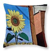 Sunflower Town Throw Pillow