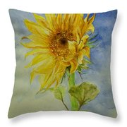 Sunflower Tribute To Van Gogh Throw Pillow
