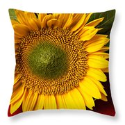 Sunflower With Old Key Throw Pillow