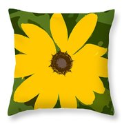 Sunflower Work Number 3 Throw Pillow
