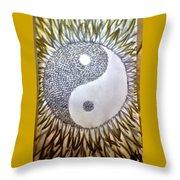 Sunflower Zen Throw Pillow