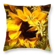 Sunflower1 Throw Pillow