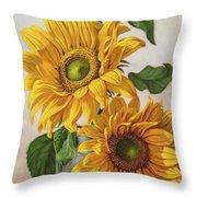 Sunflowers 1 Throw Pillow