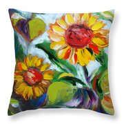 Sunflowers 10 Throw Pillow