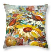Sunflowers 13 Throw Pillow