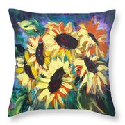 Sunflowers 2 Throw Pillow