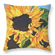 Sunflowers #3 Throw Pillow