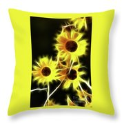 Sunflowers-4955-fractal Throw Pillow