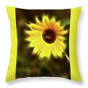 Sunflowers-4986-fractal Throw Pillow
