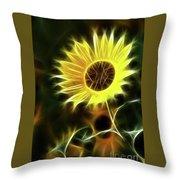 Sunflowers-5200-fractal Throw Pillow