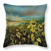 Sunflowers 562315 Throw Pillow