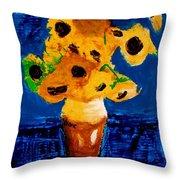 Sunflowers After Vincent Van Gogh Throw Pillow