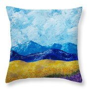 Sunflowers And Lavender In Provence Throw Pillow