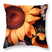 Sunflowers And More Sunflowers Throw Pillow