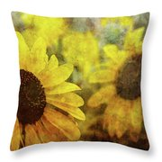 Sunflowers And Water Spots 2773 Idp_2 Throw Pillow