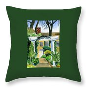 Sunflowers  At Florence Griswold Throw Pillow