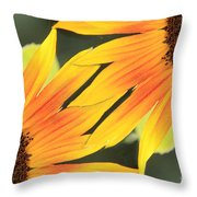 Sunflowers Corners Throw Pillow
