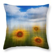 Sunflowers Dreamscape Throw Pillow