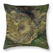 Sunflowers Gone To Seed Paris, August - September 1887 Vincent Van Gogh 1853  1890 Throw Pillow