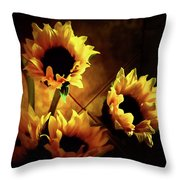 Sunflowers In Shadow Throw Pillow