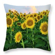 Sunflowers In The Sky Throw Pillow