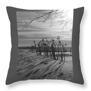 Sunflowers In The Winter Sun Throw Pillow