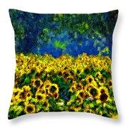 Sunflowers No2 Throw Pillow