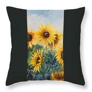 Sunflowers Part 2 Throw Pillow