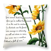 Sunflowers  Poem Throw Pillow