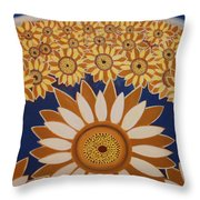Sunflowers Rich In Blooming Throw Pillow