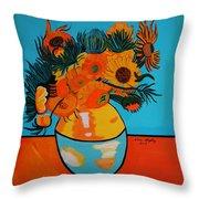 Sunflowers Van Gogh Throw Pillow