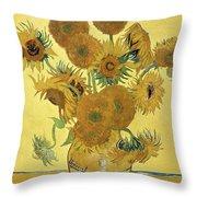 Sunflowers, 1888  Throw Pillow