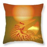 Sungazing Throw Pillow by Eleni Mac Synodinos