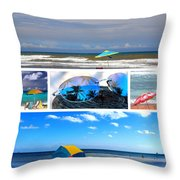 Sunglasses Needed In Paradise Throw Pillow