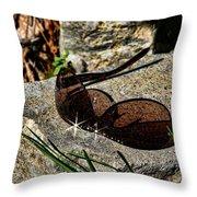 Sunglasses On Stone Throw Pillow