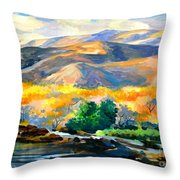 Sunglow On The Hil Throw Pillow