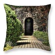 Sunken Garden Doorway Throw Pillow