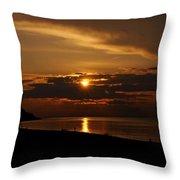 Sunken Sunset Throw Pillow