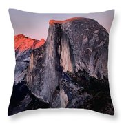 Sunkiss On Half Dome Throw Pillow
