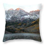 First Light Throw Pillow by Eric Glaser