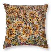Sunlight Bouquet. Throw Pillow