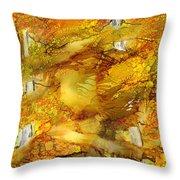 Sunlight Dancing In The Aspen Forest Throw Pillow