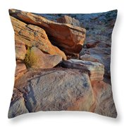 Sunlight Fades Out On Valley Of Fire Throw Pillow