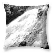Sunlight Over The Falls Throw Pillow