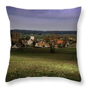 Sunlight Over The Loire Valley Throw Pillow