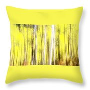 Sunlit Aspen Grove Throw Pillow