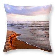 Sunlit Cannon Beach Throw Pillow