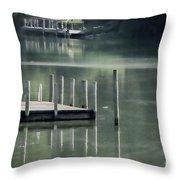 Sunlit Dock Throw Pillow