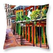 Sunlit New Orleans Throw Pillow