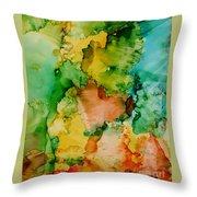 Sunlit Reef Throw Pillow